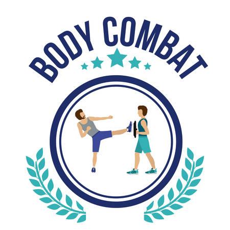 aerobics class: Body Combat design over white background, vector illustration