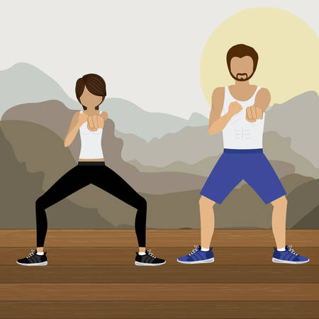 combat: Body Combat design over white background, vector illustration