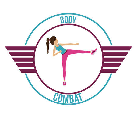 perfect fit: Body Combat design over white background, vector illustration