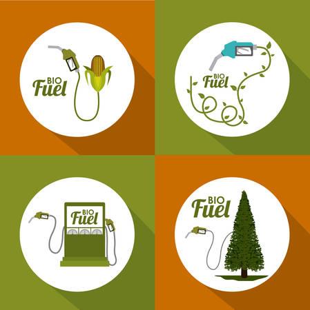 bio fuel: Bio Fuel design over colored background, vector illustration