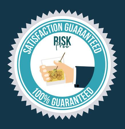 risk free: Risk free design over blue background, vector illustration Illustration