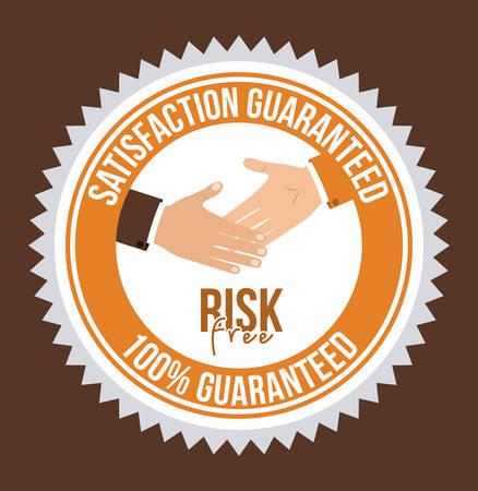 risk free: Risk free design over brown background, vector illustration Illustration