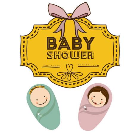 Baby Shower design over white background, vector illustration Vector