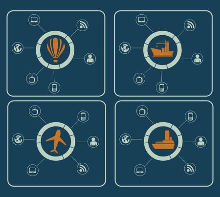 web design icon: Infographic design over blue background, vector illustration