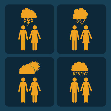 demographics: Infographic design over blue background, vector illustration