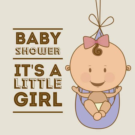 baby shower background: Baby Shower  design over grey background, vector illustration