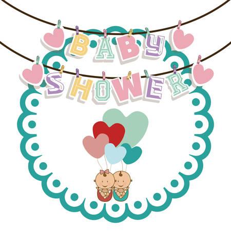 baby shower background: Baby Shower  design over white background, vector illustration Illustration