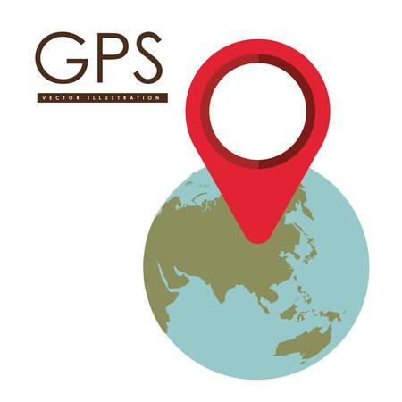 gps device: Technology design over white background, vector illustration