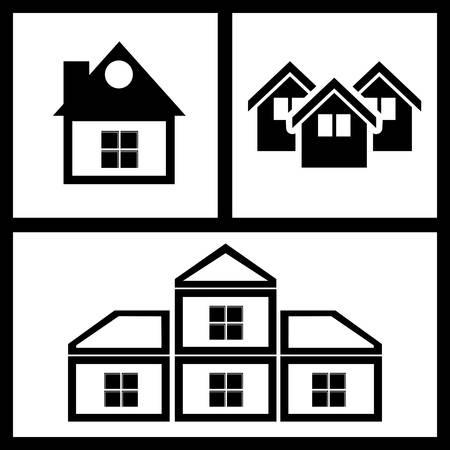 home buyer: Real Estate design over black background, vector illustration