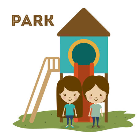 forbidden city: Park design over white background, vector illustration Illustration