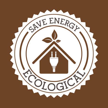 fond brun: Eco-conception sur fond brun, illustration vectorielle