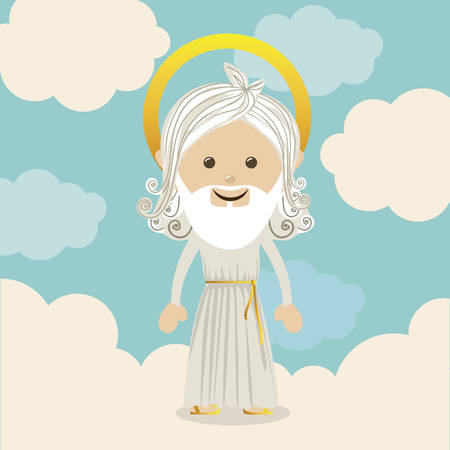 Religious design over blue background, vector illustration