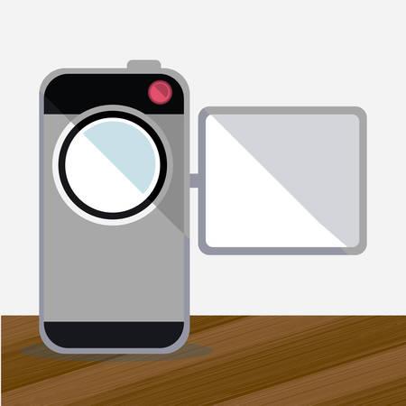 gadget: Gadget design over grey background, vector illustration