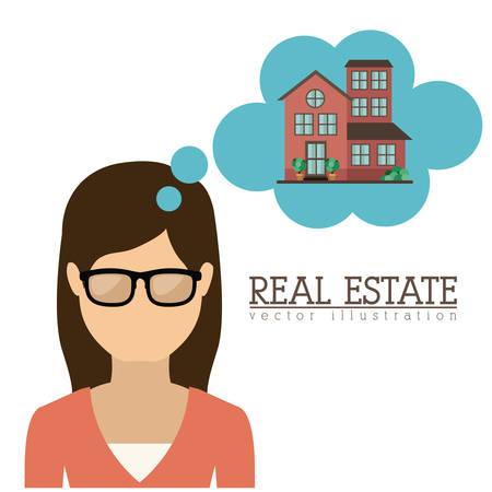buyer: Real Estate design over white background, vector illustration Illustration
