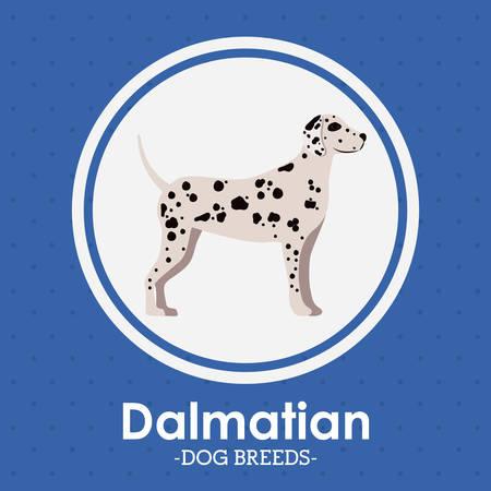 trusting: Pets Love design over blue background, vector illustration