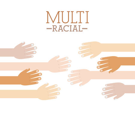 multirracial: Multiracial design over white background, vector illustration