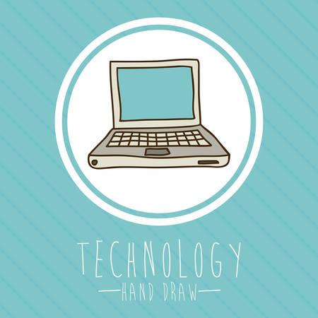 illustation: Technology design over blue background, vector illustation