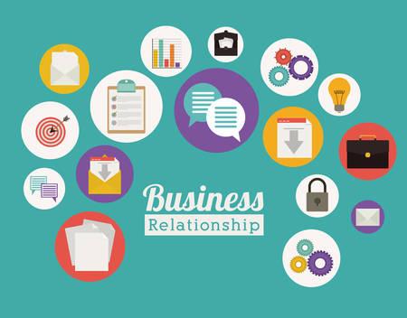 ison: Business design over green background, vector illustration