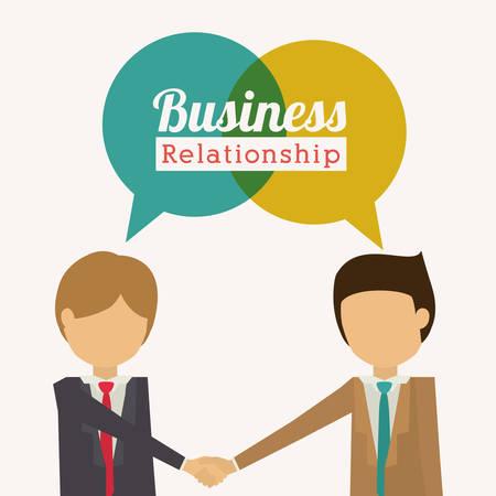 work together: Business design over white background, vector illustration