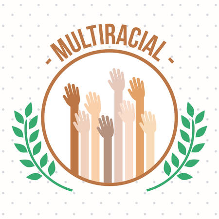 multiracial: Multiracial design over white background, vector illustration