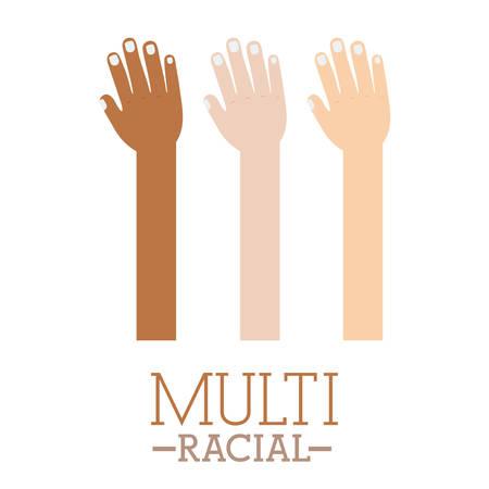 multirracial: Projeto multi�tnico sobre o fundo branco, ilustra��o vetorial