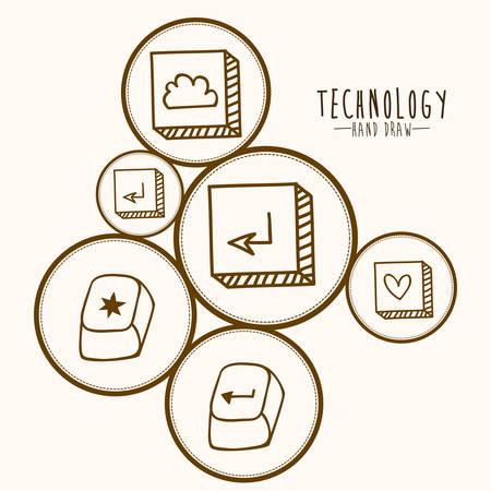 illustation: Technology design over white background, vector illustation Illustration