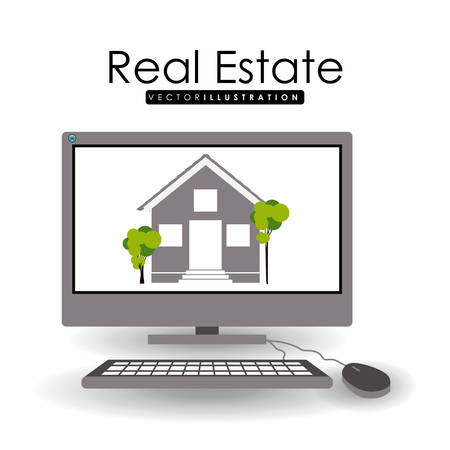 buyer: Real Estate  design over white backgound, vector illustration