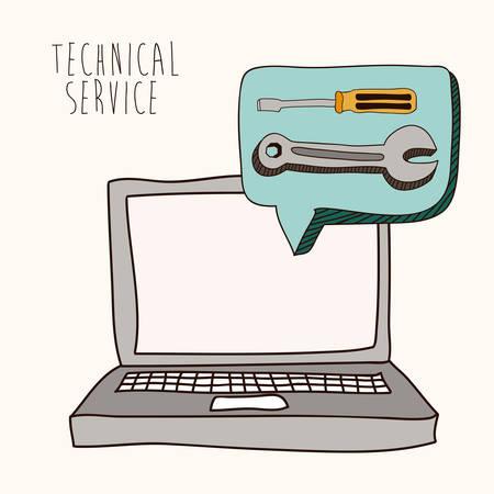 technical service: Technical service design over white background, vector illustration