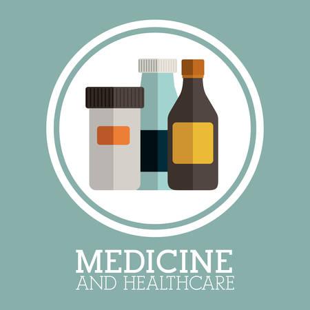 medicine background: Medicine design over blue background, vector illustration