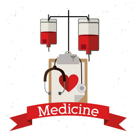 medicine background: Medicine design over white background, vector illustration Illustration