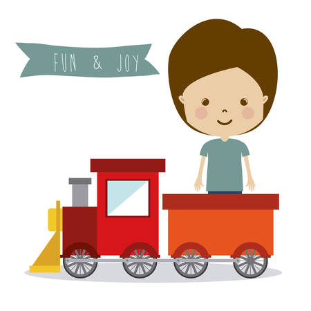 miniature: Toys design over white background, vector illustration Illustration