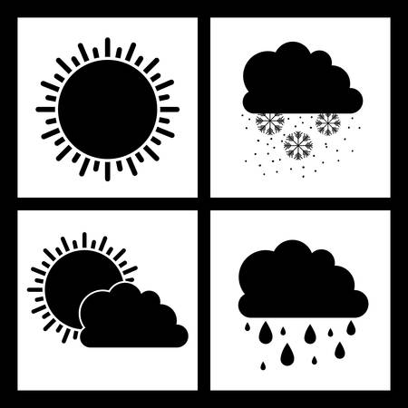 Weather design over white background, vector illustration