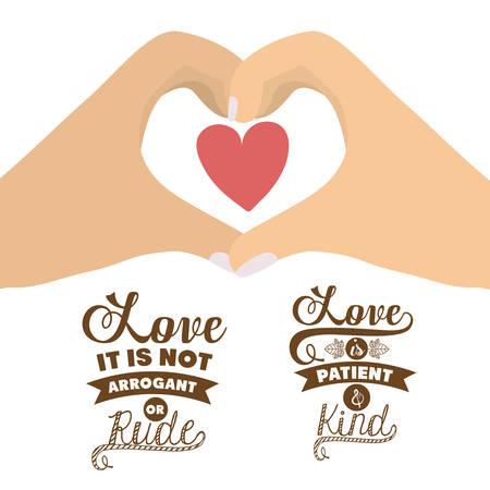 affectionate: Love design over white background, vector illustration Illustration