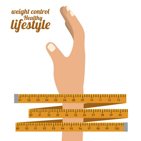 control of body movement: Healthy lifestyle design over white background, vector illustration