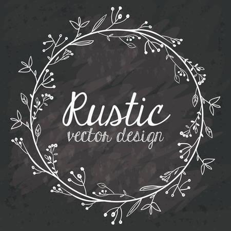 over black: Rustic design over black grunge background, vector illustration