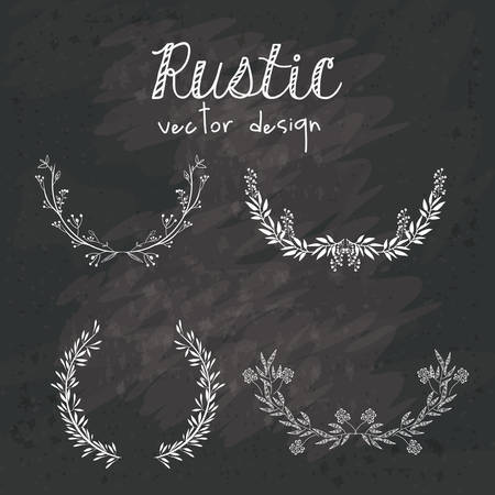 graphic element: Rustic design over black grunge background, vector illustration