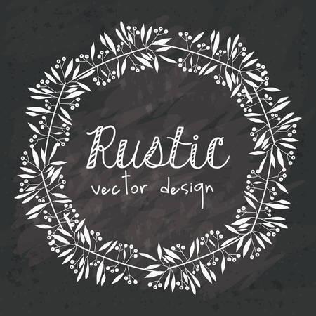 black grunge background: Rustic design over black grunge background, vector illustration