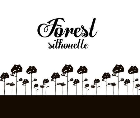 rural area: Forest design over white background, vector illustration