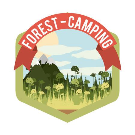 rural areas: Forest design over white background, vector illustration