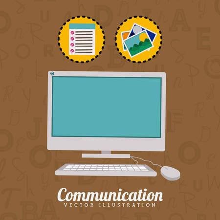 fond brun: Design de communication sur fond brun, illustration vectorielle
