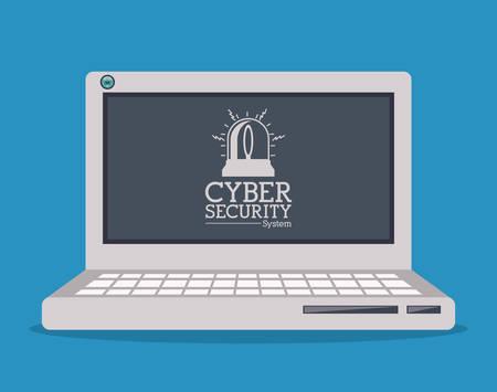 virus and security system design over blue background, vector illustration Illustration