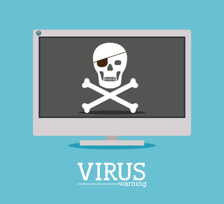 virus and security system design over blue background, vector illustration Vector