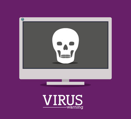 virus and security system design over purple background, vector illustration