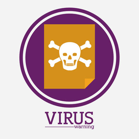 trajan: virus and security system design over white background, vector illustration