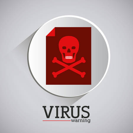 virus and security system design over grey background, vector illustration Vector