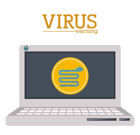 virus and security system design over white background, vector illustration Vector
