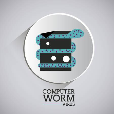 trajan: virus and security system design over grey background, vector illustration Illustration