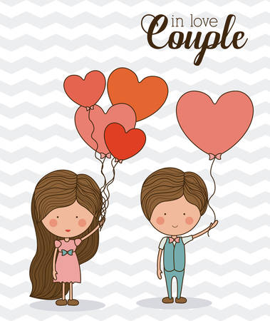 striped background: Love design over striped background, vector illustration