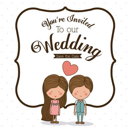 Love design over white background, vector illustration Illustration