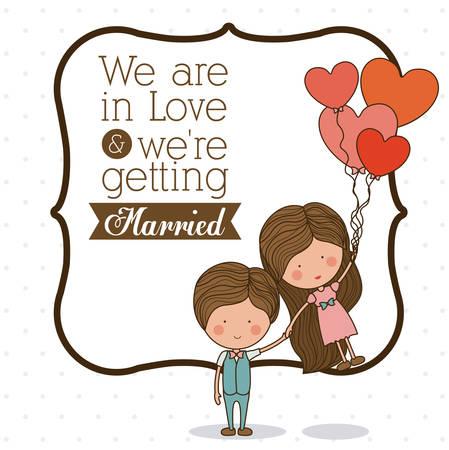 wedding day: Love design over white background, vector illustration Illustration